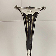 Chester 1885 Silver Trumpet Vase