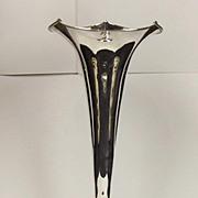 Chester 1885 Silver Trumpet Vase