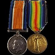 WW1 Medal Pair 231516 E.T. Walcroft R.A.F.