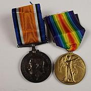 WW1 Medal Pair R.3331 P.A. Hobbs