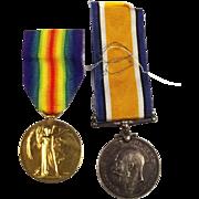 WW1 Medal Pair A-422120 Pte G.F. Hulbert ASC