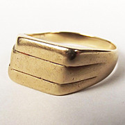 Gents 9ct Gold 3 Band Ring UK Size W US 11 1/3