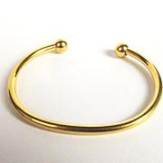 Plain 9ct Gold Celtic Torque Bangle