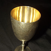 Silver 1877 Victorian Goblet By George William Adams