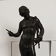 Circa 1880 Grand Tour Bronze Of Narcissus Of Pompeii