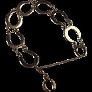 9Ct Yellow Gold Lucky Horseshoe Bracelet - 9 Inch