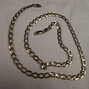 Italian 9Ct Gold Chain Necklace - 21 Inches