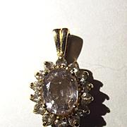 9ct Gold Paste Stone Pendant