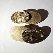 Vintage 9 Ct Gold Cufflinks, Hallmarked - Birmingham 1994