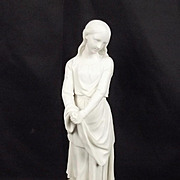 Victorian Parian Figure Of Maidenhood - Little Dorrit (Charles Dickens)