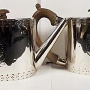 A Pair Of George III Oval Silver Teapots London 1775