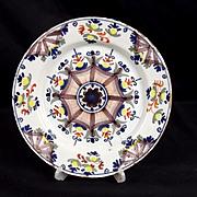 Circa 1790 Ann Gomm Lambeth Delftware Plate