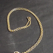 32 Inch 9 Ct Gold Chain With Stone Studded Ball Pendant