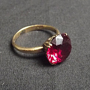 14Ct Gold Ruby Ring Size Q US Size 8