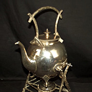 "19th Century Silver Plate ""Gypsy"" Kettle Stand & Burner"