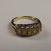 9Ct Gold Yellow Topaz And Diamond Ring UK Size M US Size 6