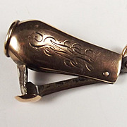 c1913 9ct Rose Gold Birmingham Cigar Cutter
