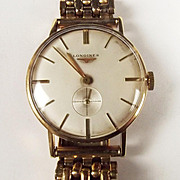 9ct Gold Longines 1965 Precision Wristwatch With Rolled Gold Strap