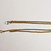 9Ct Gold Chain With Heart Glass Stone 20.1 inches