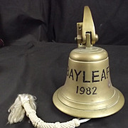 Ships Bell RFA Bayleaf Commisioned 1982