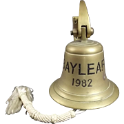 Ships Bell RFA Bayleaf Commissioned 1982 CPOs Bar