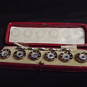 Gold And Mother Of Pearl Buttons With Case