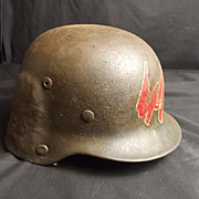 Unique WW2 German Modified Helmet