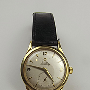 c1948 18 Ct Mens Omega Automatic Chronometre With 9 Ct Bracelet
