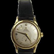 18 Ct Men's Omega Automatic Chronometre, 9 Ct Bracelet