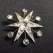 9Ct Gold And Diamond Star Brooch
