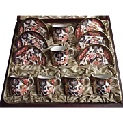 1899 Royal Crown Derby Cased Imari Coffee Set