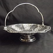 London 1883 Sterling Silver Fruit Bowl With Handle