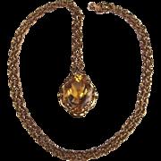 9ct Yellow Gold Citrine Pendant Necklace