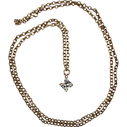 9ct Yellow Gold Necklace With Cubic Zirconia Pendant