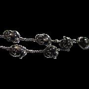 Vintage Black Star Sapphire Necklace