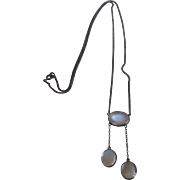 Antique Moonstone Negligee Necklace
