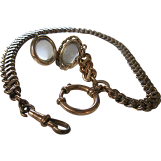Antique Pools of Light Locket FOB and Chain