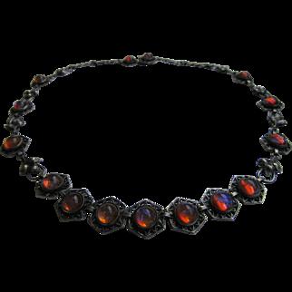 Vintage Sterling Silver Dragon's Breath Necklace