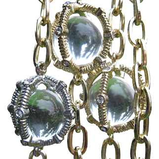 Vintage Caged Pools of Light Necklace R.J. Graziano