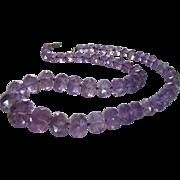 Antique Art Deco Natural Purple Amethyst Necklace