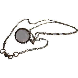 Antique Victorian Pools of Light Locket Necklace