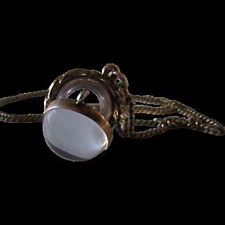 Antique Victorian Locket Pools of Light Necklace