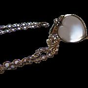 Antique Victorian Rock Crystal Pools of Light Heart Locket Necklace