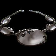 Antique Arts and Crafts Rock Quartz Sterling Necklace