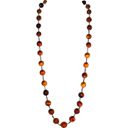 Antique Pools of Light Necklace Chinese Honey Cognac Baltic Amber
