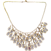 Stunning Crystal Cascade of Drops Necklace with Rhinestones Fabulous Piece