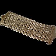 Awesome Vintage 7 Strand Gold Linked Bracelet Ethnic Tribal Style Nice Quality
