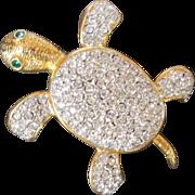 Adorable Joan Rivers Turtle Pin Brooch