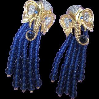 Elizabeth Taylor for Avon Elephant Walk Earrings