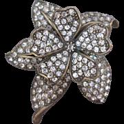 Exquisite HEIDI DAUS Flower Trembler Brooch Two Level Tier Pin w Spring Movement Vintage